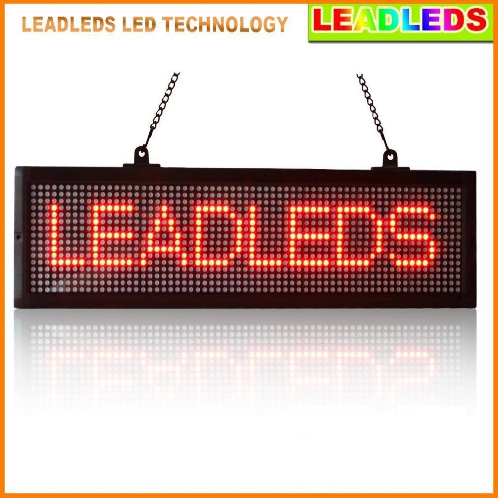 Indoor Led Display Programmable Scrolling Message Led Sign Board For Business And Store - Red Message