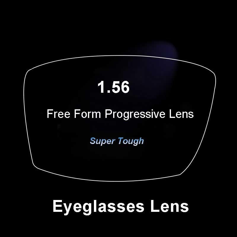 1.56 verres optiques adaptés aux besoins du client de Prescription multi-focale Progressive de forme libre numérique superbe-dure avec le revêtement d'ar 2 Pc
