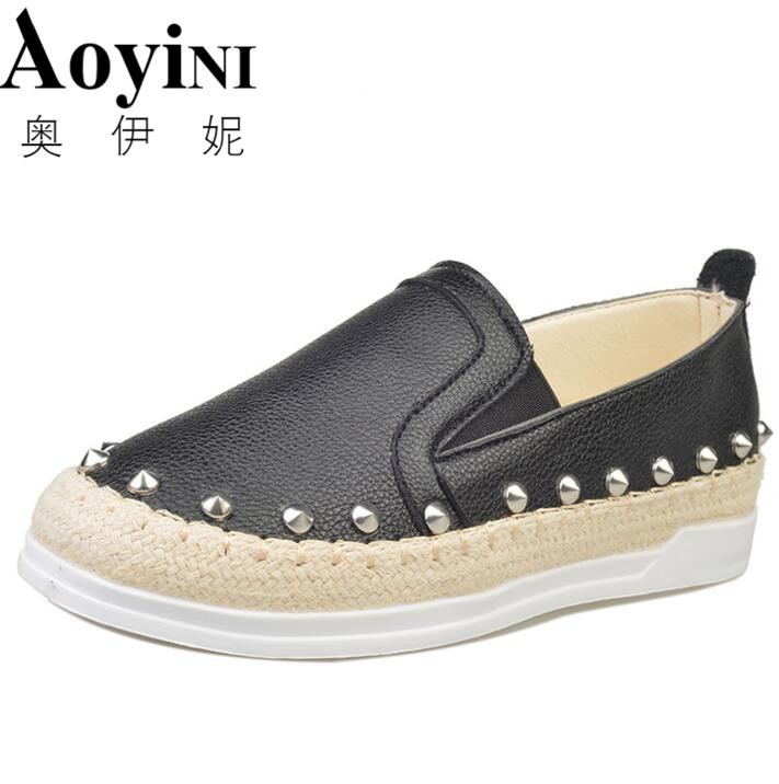 2018 New Loafers Weave Straw Ballet Flats Casual Fisherman Shoes Woman Slip On Comfort Solid Women Shoes Free Shipping a 2017 autumn winter women ballet flats lovely bow warm fur comfort cotton shoes woman loafers slip on size 40 f270