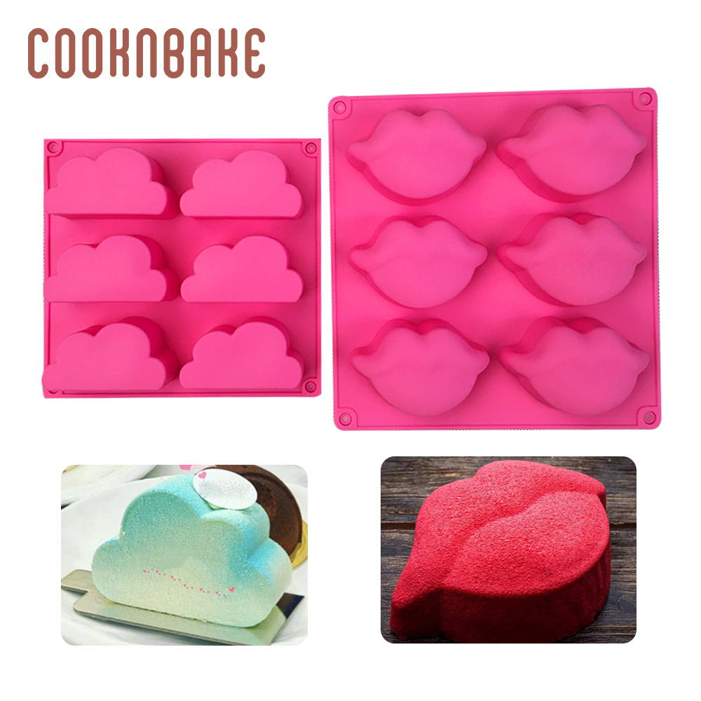 Bakeware Kitchen,dining & Bar Purposeful Cooknbake Cloud Silicone Mold For Pudding Lip Shape Soap Pastry Baking Form Ice Biscuit Cake Bakeware Tool Jello Cupcake Mould Choice Materials