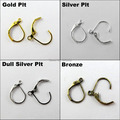 60Pc Semicircle French Earring Hook DIY Gold,Silver,Bronze etc.Wholesale  No.FEH02