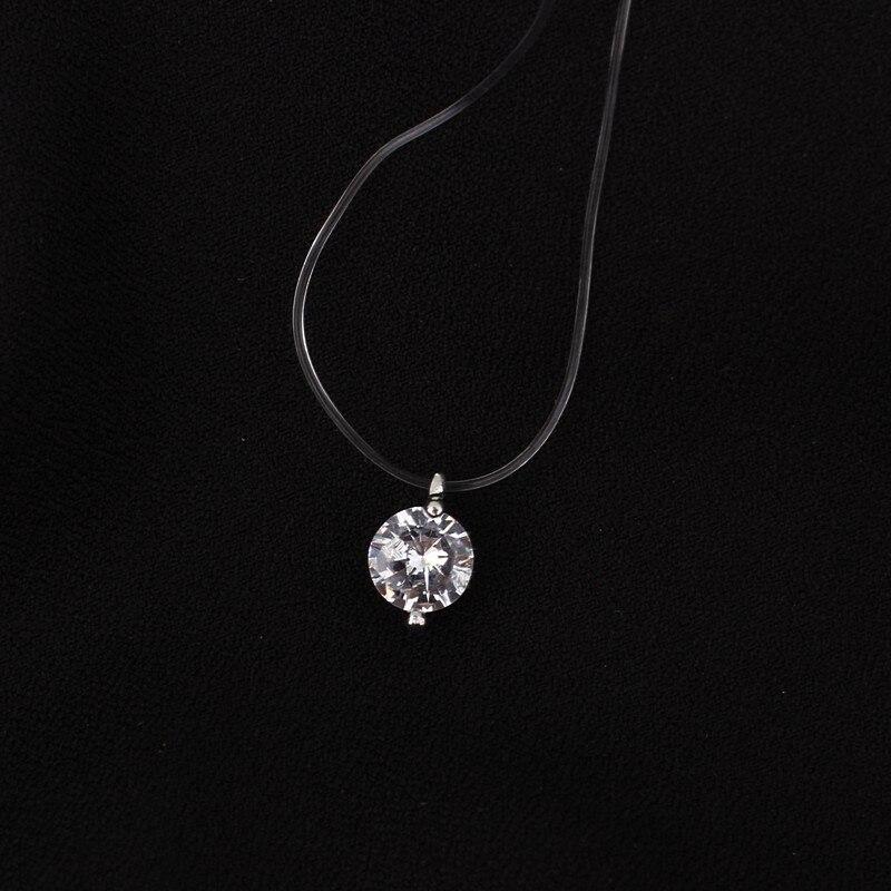 1PC Women Unicorn Christmas Necklace Pendant Rhinestone Crystal Chain Jewelry