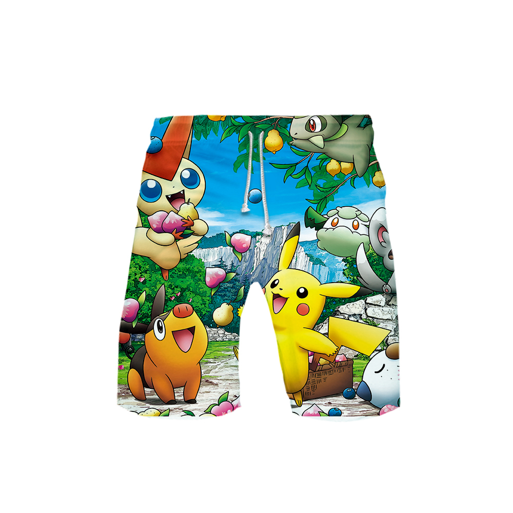 Pokemon 3D Printed Beach Shorts Men Fashion Streetwear Shorts Hot Sale 2019 Harajuku Trendy Summer Wear