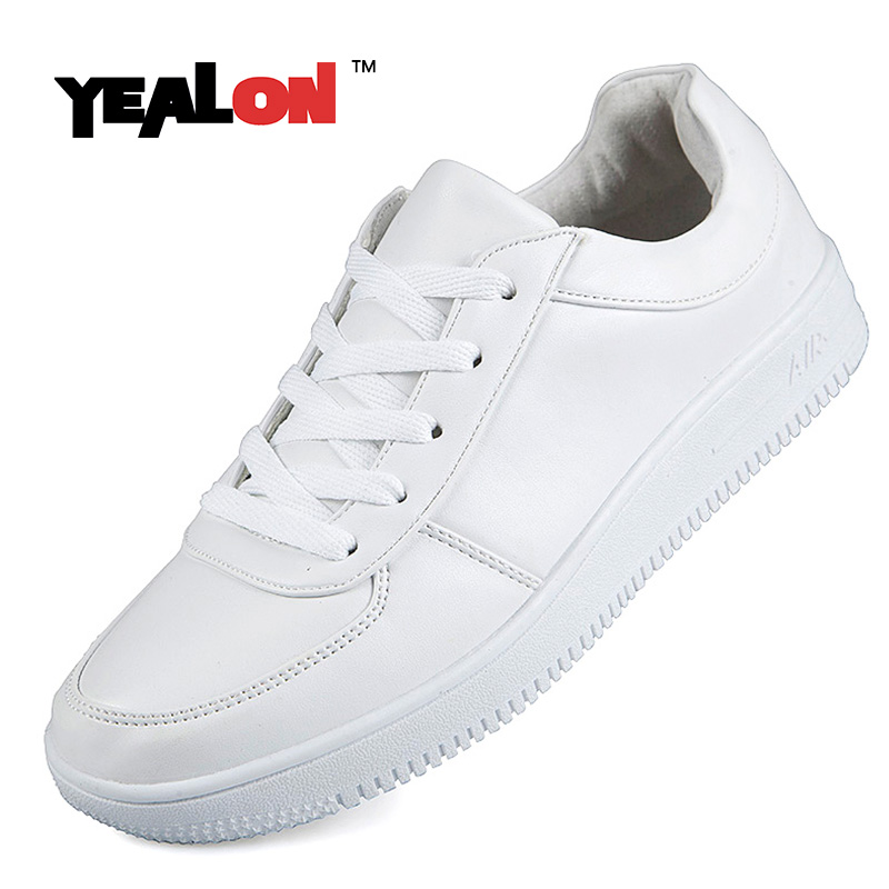 81c3b4d187f96 YEALON Original Mens Skateboard Shoes White Sneakers Womens Skateboard  Shoes Low Classic Skateboarding Shoes Female Sport 2017-in Skateboarding  from Sports ...
