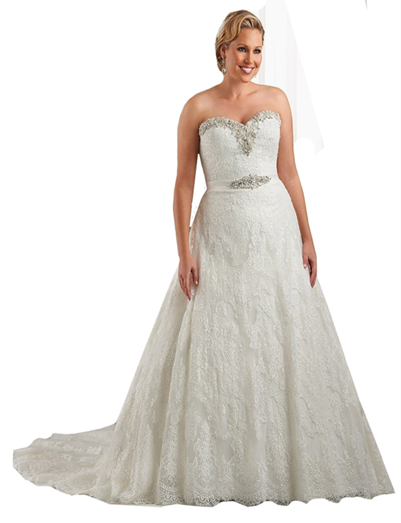 Online Buy Wholesale Wedding Dresses Large Women From
