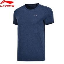 Li-Ning, мужские тренировочные футболки из Джерси, полиэстер, дышащие, обычная посадка, подкладка, спортивные футболки, топы AHSP041 MTS3091