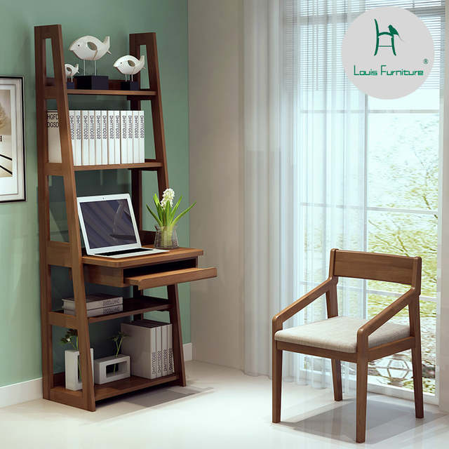 Us 451 9 Louis Fashion Bookcases Simple Computer Bedroom Corner Integrated Desk Window Balcony Small Bookshelf In From Furniture On