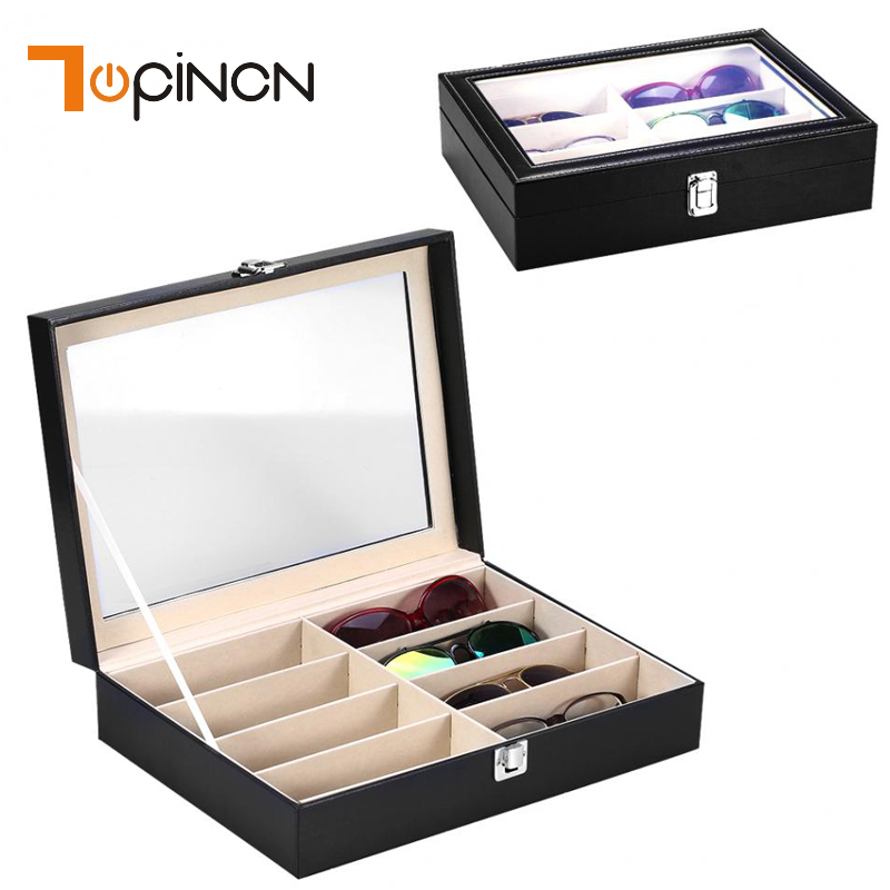 8 Pairs Sunglasses Organizer Box Eyewear Glasses Display Case Collector Eyeglass Box Jewelery Sunglasses Storage Case