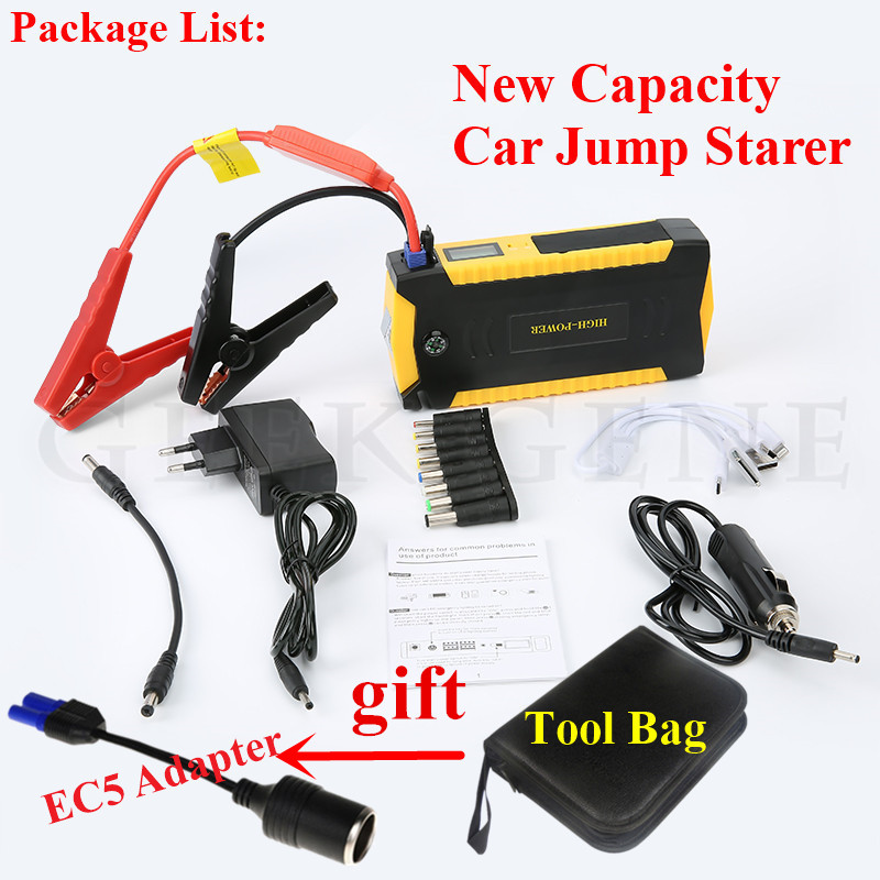 High Quality 12V Portable Mini Car Jump Starter 16000mAh Starting Device Power Bank For Petrol Diesel 600A Car Charger Buster CE car jump starter car power bank high quality mobile portable mini jump starter power battery charger phone laptop power bank