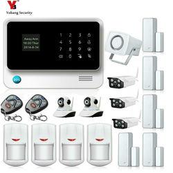 Yobang bezpieczeństwa WIFI GSM Alarmas De Seguridad Para Casa system alarmowy do domu z systemem IOS/Android pilot zdalnego sterowania kamery zestawy