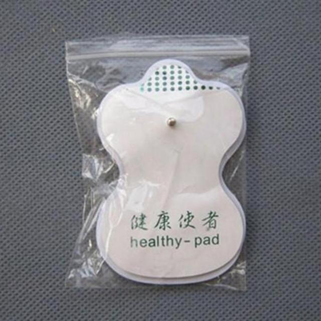 10pcs White Electrode Pads Digital Meridian instrument Acupuncture Therapy Machine Relaxation Connector for Slimming Massager C3 5