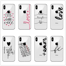Portuguese Words Amor Love Design For iPhone X 6 6s 7 8 Plus 5 5s SE  Silicone Transparent Ultra Slim Soft Phone Cover