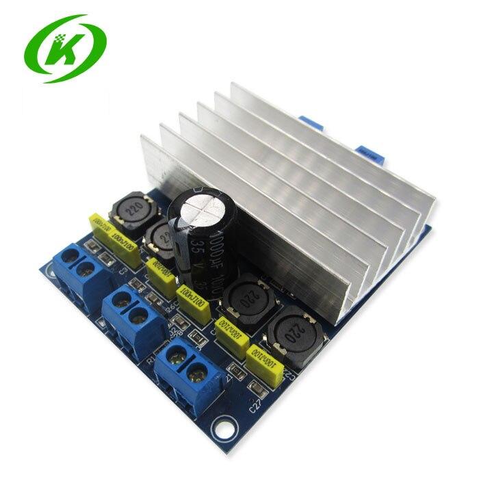 TDA7492 2 x 50W D Class High-Power Digital Amplifier Board AMP Board+ Radiator yj 24vdc tda7492 2 0 channel digital amplifier class d 2 50w
