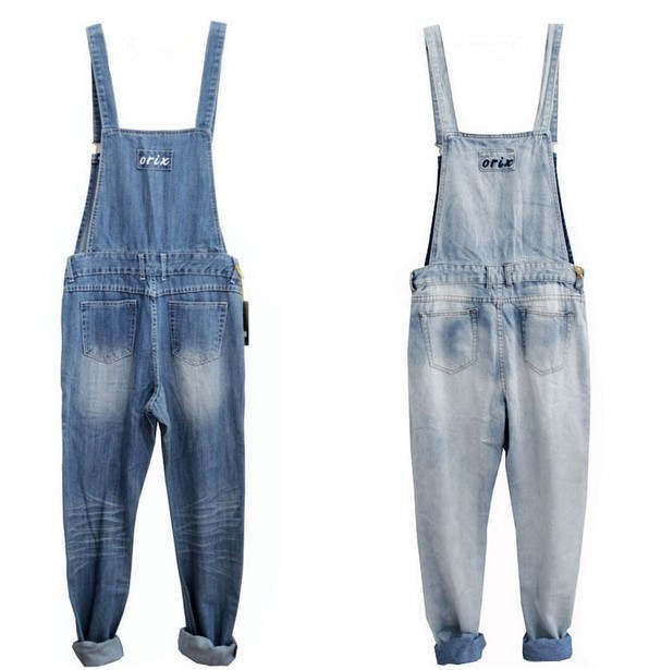 37c93aee964 Adult One Piece Denim Jumpsuit Men Overalls Jumpsuit Bib Pants Suspender  Jeans Long Pants Dark Blue