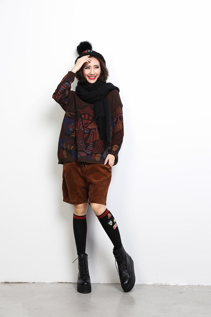 3bad23c4f7c2 Pantalon Femme Vintage Harajuku Mori Girl Loose Elastic Waist ...