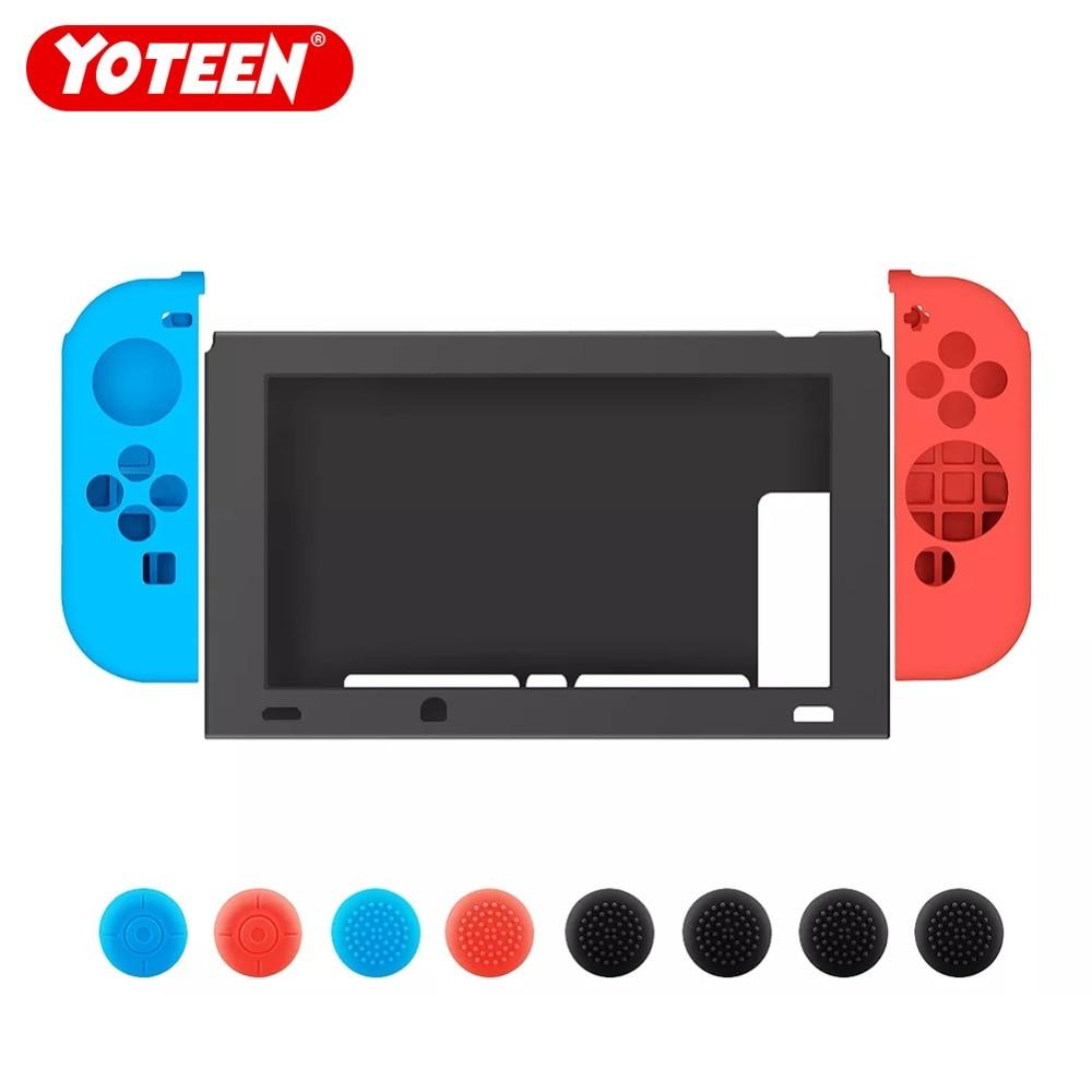 1 Unidades para Nintend interruptor NS NX de silicona suave cubierta protectora de silicona para la consola Nintendo Switch cubierta protectora