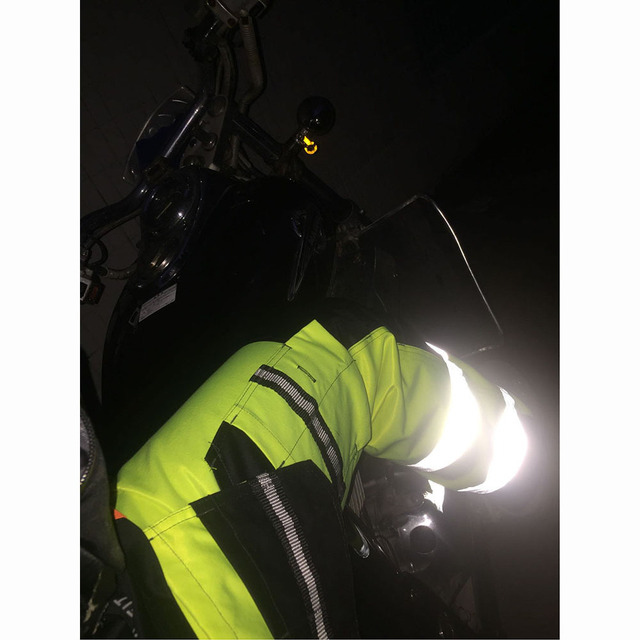 Reflective Men Working Pants High visibility Fluorescent Yellow Multi-pockets Work Trousers With Knee Pads Workwear Cargo Pants 5