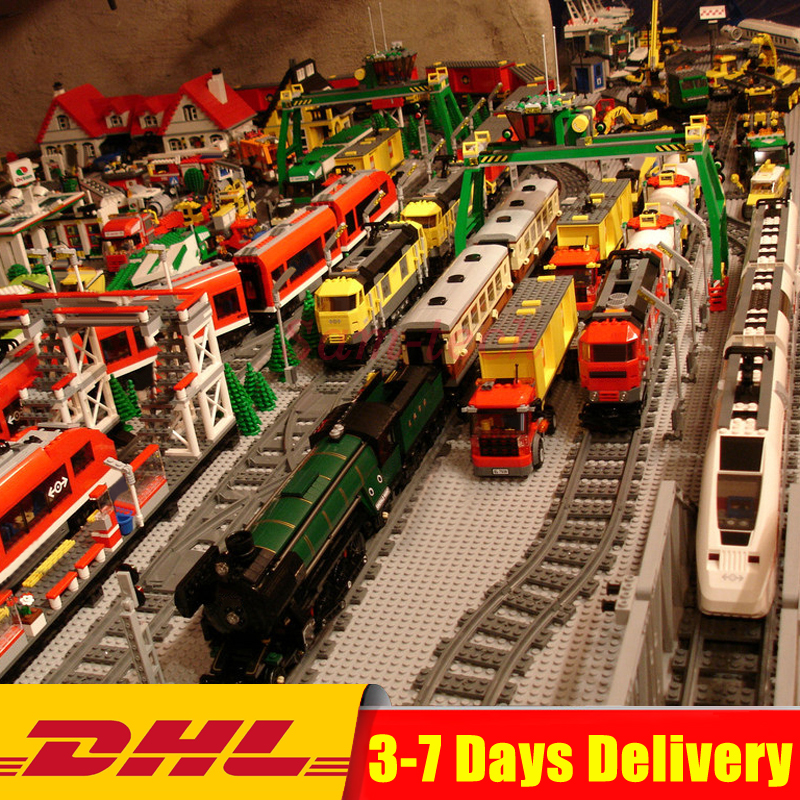 Lepin Technic Legoingly Train 02008 02009 02010 02039 21005 21006 21007 21011 21029 10194 10219 Buillding Blocks Bricks Toys