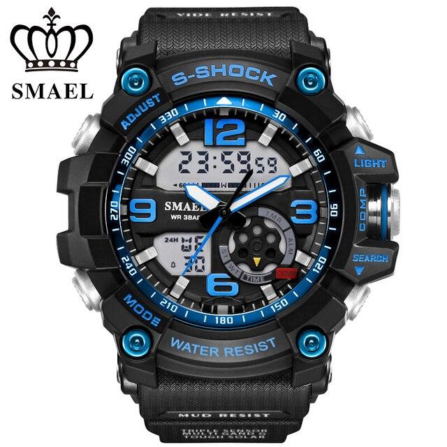 Big Sport Watches for Men Fashion LED Digital Watch Quartz S Shock Wristwatch reloj hombre relogios masculino Men Gifts WS1617