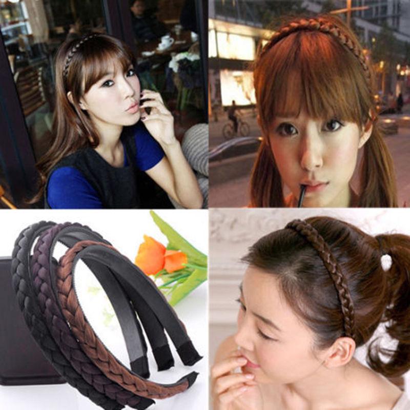 nuevas mujeres de la vendimia diadema trenzas de pelo sinttico pelo trenzado banda de simulacin muchachas