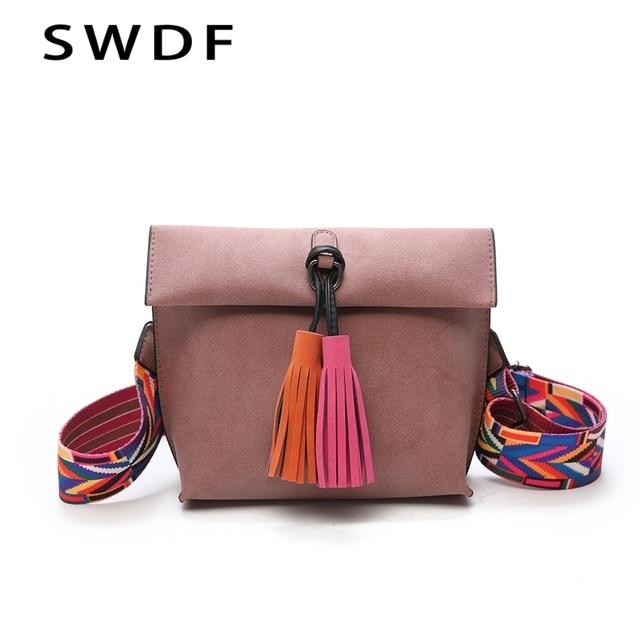 2019 New Women Messenger Bag Tassel Crossbody Bags For Girls Shoulder Bags  Female Designer Handbags Bolsa Feminina Bolsos Muje 2bf26517318bf