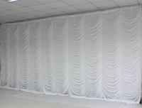 Ice Шелковый элегантный белый пульсации свадьба фон Свадебный питания Шторы Для Свадебные украшения