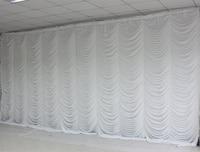 Ice Silk Elegant White Ripple Wedding Backdrop Wedding Supply Curtain for wedding Decoration