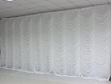 Ice Silk Elegant White Ripple Wedding Backdrop Wedding Supply Curtain for wedding Decoration