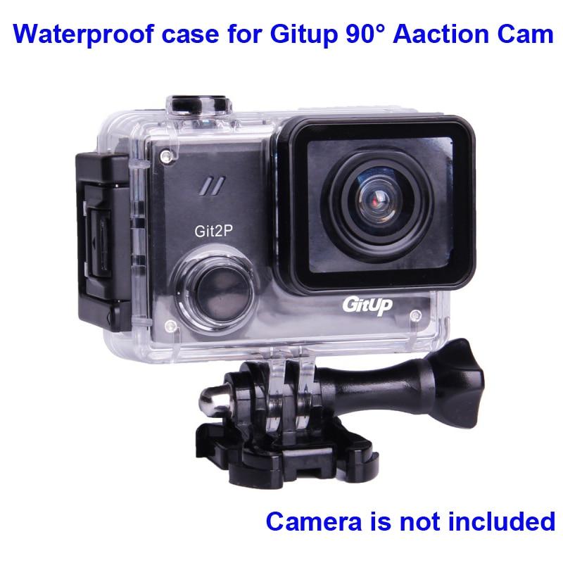 Original bajo el agua para G3 Git3 GITUP Git2 Git2P 90 grados 30 m impermeable vivienda extrema casco Mini cámara de acción