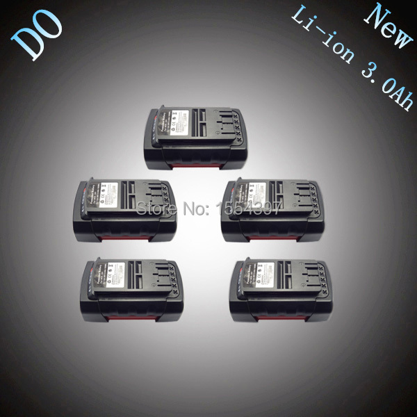 5PCS Lithium Ion 3000mAh Replacement Rechargeable Power Tool Battery for Bosch 36V 2 607 336 003 BAT810 BAT836 BAT840 36 Volt spare 2600mah 36v lithium ion rechargeable power tool battery replacement for bosch d 70771 bat810 2 607 336 107 bat836 bat840