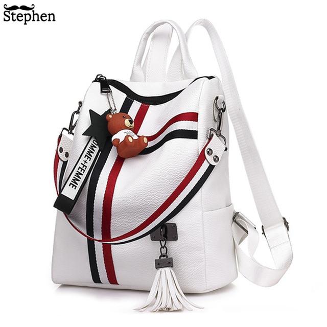 2018 Women Tassel Backpack Youth Travel Female Rucksack School Bag For Girl Shoulder Bag Bagpack Sac A Dos Femme Bagpack Mochila