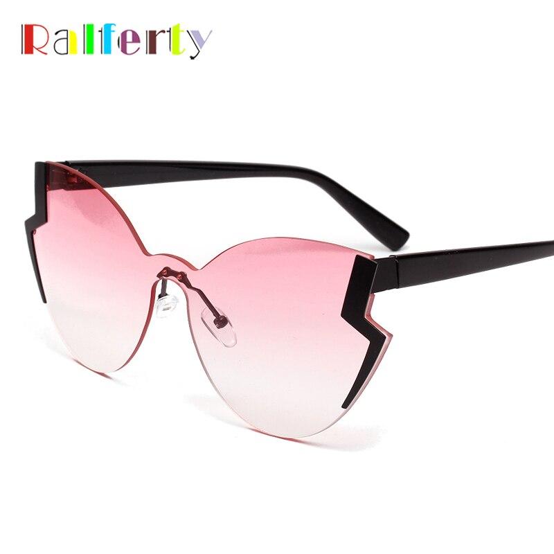 Ralferty Cool Irregular Sunglasses Women Brand Designer Butterfly Sun Glasses Female Pink Gradient Eyewear 2019 New Style WA1165