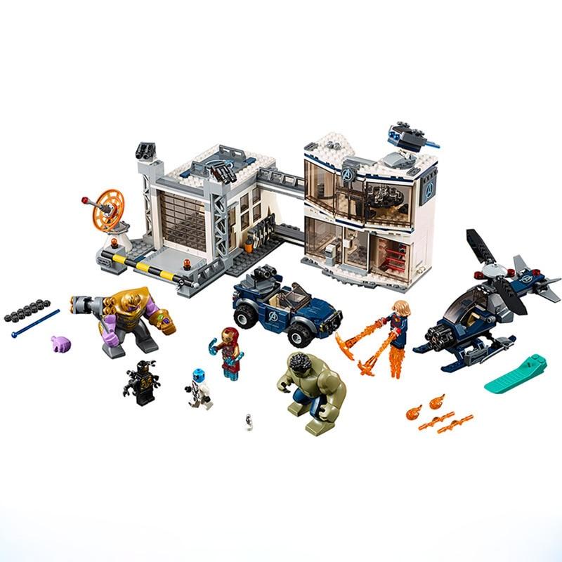 Super Heroes Endgame Compound Battle Model Building Blocks Enlighten Action Figure Toys For Children Christmas Gift
