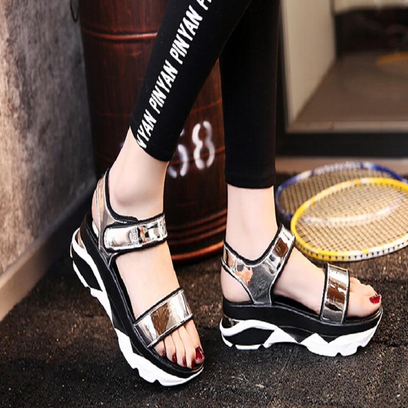 2017 New shoes Summer sandals women peep-toe sandalias flat Shoes Roman sandals shoes woman mujer Ladies Flip Flops Footwear women shoes summer women sandals 2017 peep toe gold silver roman sandals shoes platform brand creepers woman sandalias size 43