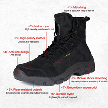 FREE SOLDIER Outdoor Sports Camping Men Hiking Climbing Boots