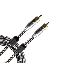 High Premium RCA to RCA Male to Male Hifi Stereo Digital Coaxial Audio Cable For Subwoofer Speaker Amplifier TV DVD Aux