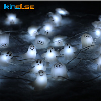 Battery Operated 3M 10FT 40LED Skull Ghost Shaped LED String Lights Decoration Halloween Indoor Outdoor Lights
