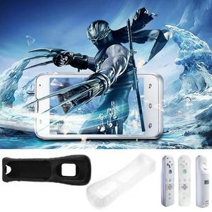 Image 2 - Black/White color Silicone Cover Case Skin Pouch Sleeve Housing Shell Protective Cover for Nintendo Wii Remote Controller