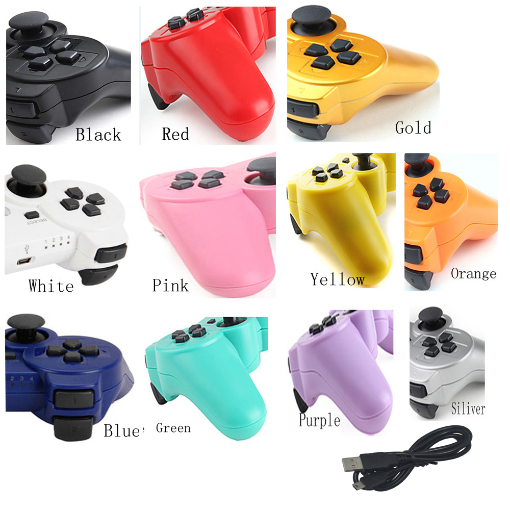 xunbeifang 8pcs Wireless controller For PS3 virration Bluetooth Game Gamepad for playstation 3 Joystick with charge