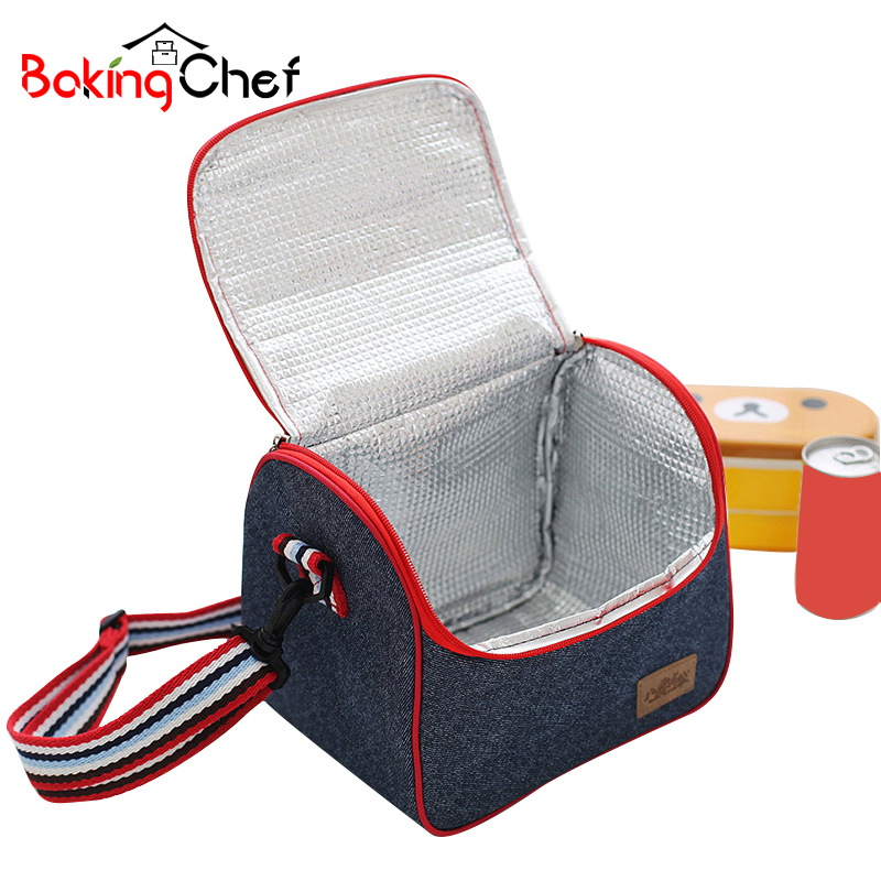 BAKINGCHEF Portable Outdoor Picnic Storage Bag Travel Food Insulated Thermal Cases Organizer Accessories Supplies Stuff Products