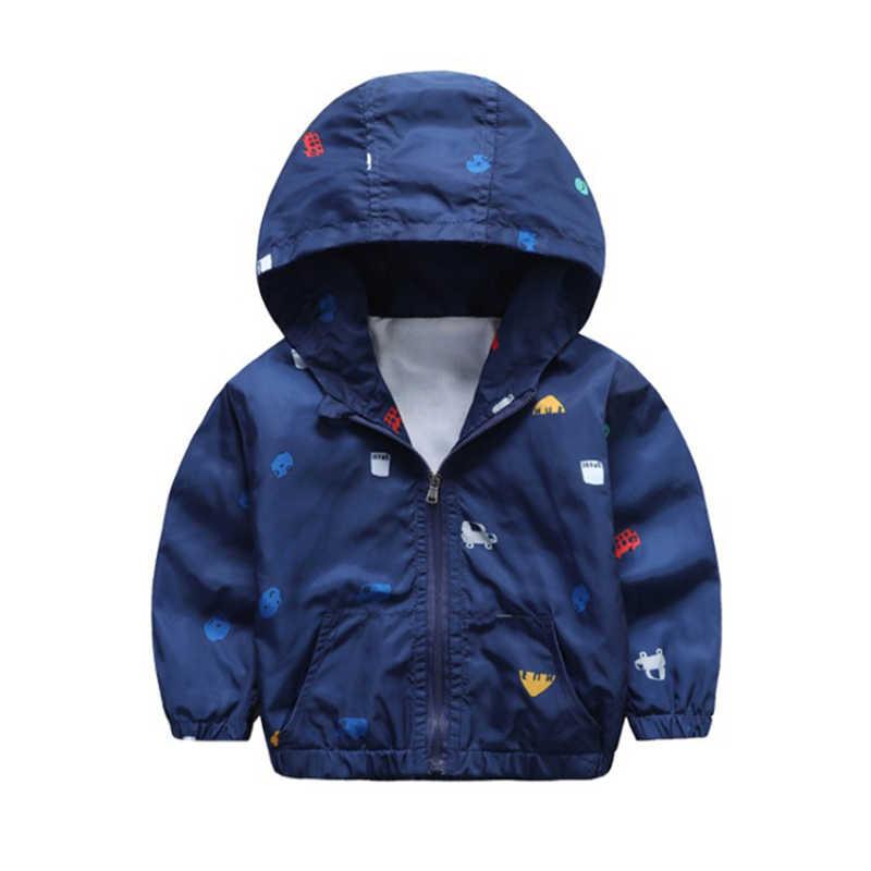 61841561d Girls Jackets Kids Spring Jacket Children Coat Toddler Boys Hooded Print  Car Coat Baby Thin Windbreaker