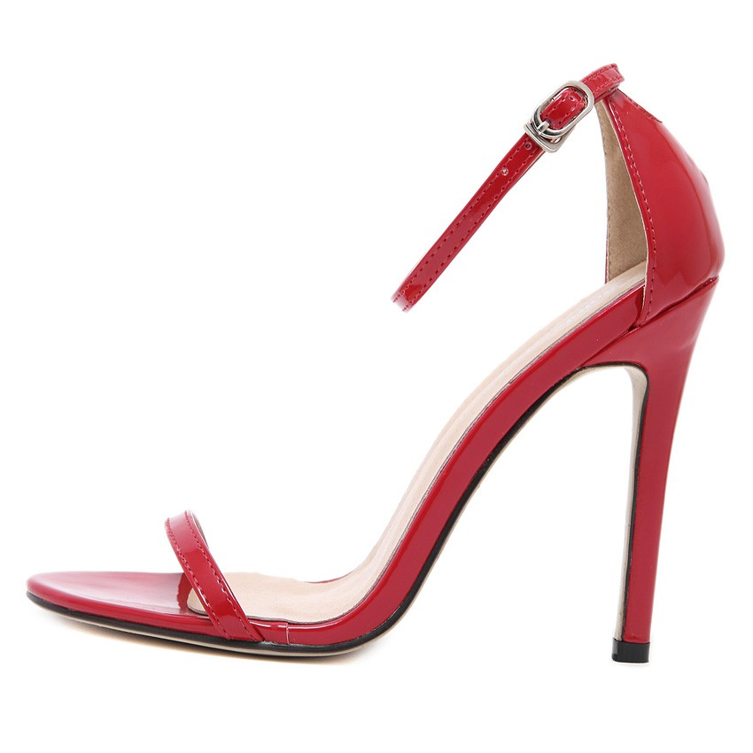 <font><b>Nude</b></font> Apricot red black white woman shoes ankle strap mary janes <font><b>open</b></font> <font><b>toe</b></font> concise <font><b>patent</b></font> <font><b>leather</b></font> sandals wedding <font><b>dress</b></font> pumps heel