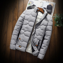 autumn winter New Jacket fashion trend Casual thickened warm cotton-padded clothes Slim baseball coats size Down Warm Jacket