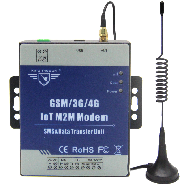 IOT M2M Modem GSM/3G/4G DTU Supports Programmable Handshake Message Transparent Transferring SMS with TTL RS485 Port D223 цена