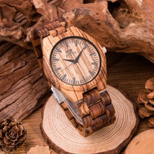 Eco-Friendly Red Sandal Wood Health Watches Kenon Brand Wooden Watch Japan Quartz Wristwatch For Mens Women Lover Best Gift