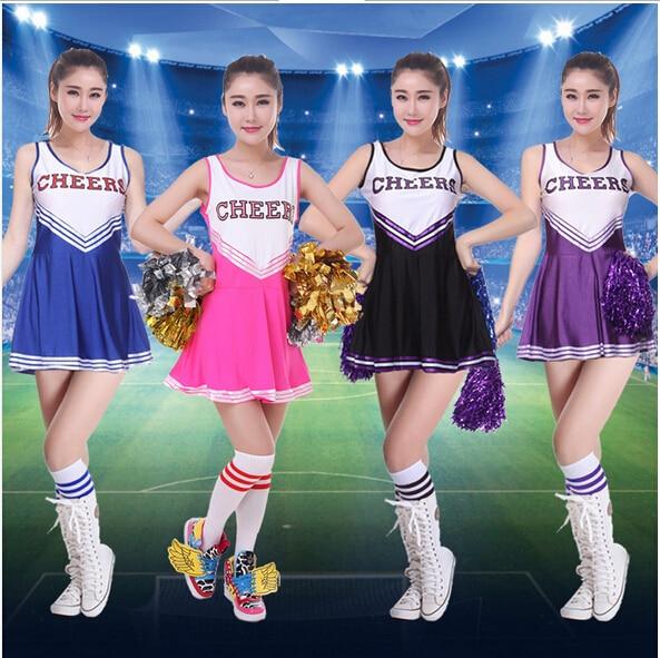 Lovely High School MUSICAL Cheerleader GIRL UNIFORM Costume 3 Colourful