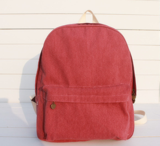 6074c44bf41d WACSE Japan and South Korea pure color models College Wind backpack  schoolbag female student casual canvas