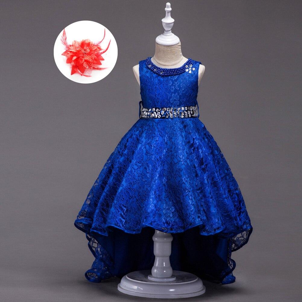 7a423b5fe1669 Strass américain robes de soirée enfants Beige rouge Royal bleu robes de  fête de mariage pour les filles sans manches princesse enfants vêtements  dans Robes ...