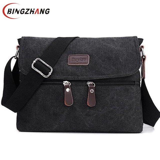 NEW Men Bag High Quality Multifunction Men Canvas Bag Casual Travel Bolsa Masculina Men's Crossbody Bag Messenger Bags L4-2584