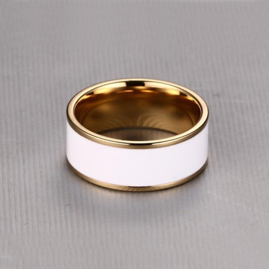 Heißer verkauf aliexpress vergoldung edelstahl ring abdeckung - Modeschmuck - Foto 4